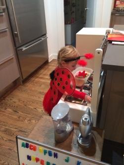 Ladybug Girl Cooking.